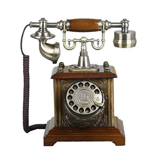 SXRDZ Teléfono Home Sala de Estar Oficina Retro Fijo Fijo Metal Rotary Dial Teléfono