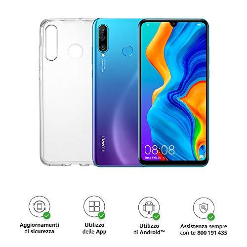 Huawei P30 Lite (Blue) Smartphone + cover trasparente, 4GB RAM,...
