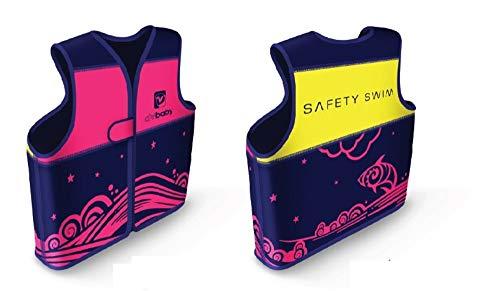 PL Ociotrends Gilet da Nuoto Rosa da 18 Mesi a 3 Anni, Unisex, Multicolore