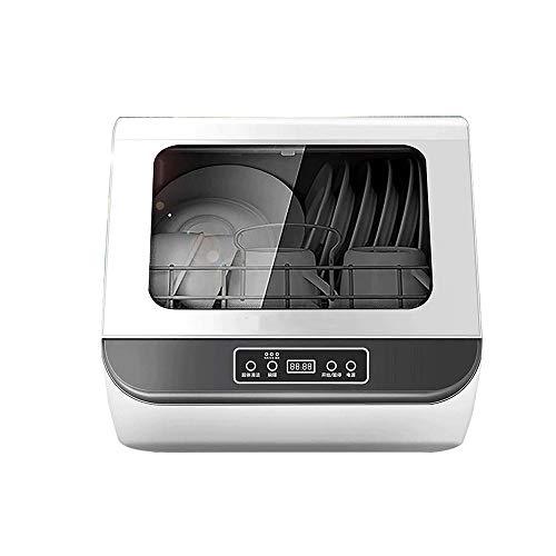 LKNJLL Complete Portable Lave-Vaisselle avec 5 Countertop litres intégré Réservoir d'eau, 3 programmes, Verre et Fruit Wash