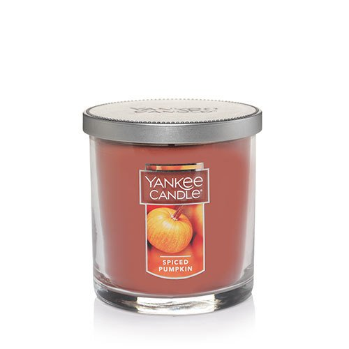 Yankee Candle Spiced Pumpkin Small Single Wick Tumbler Candle, Food & Spice Scent