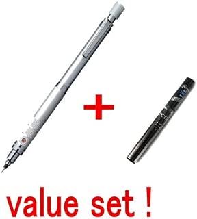 Uni Kuru Toga Roulette Model Auto Lead Rotation Mechanical Pencil 0.5 Mm - Silver Body (M510171p.26 )With the Spare 20 Leads Only for Kuru Toga Value Set