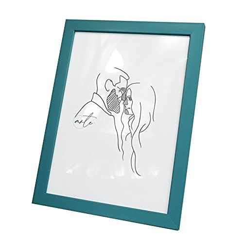 Artepoint Kunststoffrahmen Bilderrahmen von 9x13 bis 30x40 Querformat und Hochformat zum Aufhängen Rahmen Farbe Türkis - Format 30x40