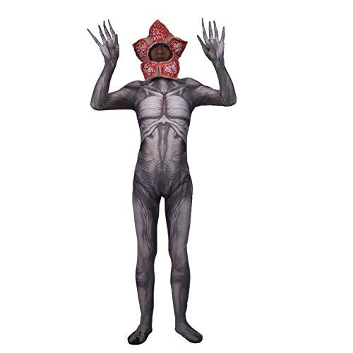 Extrao Cosas de Halloween Body Halloween Superhero Jumpsuit Unisex Cosplay CostumesAduls Nios 3D Lycra Spandex Zentai Fancy Dress Onesies,Grey-Men~XXL(175~185cm)