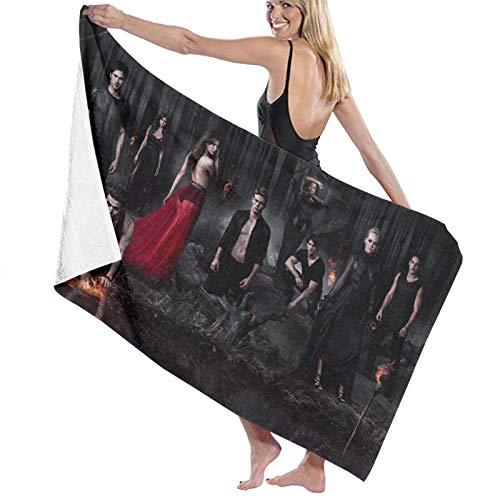 Vampire Diaries Toalla de baño de playa cómoda fibra superfina ligera y rápida absorción de agua de gran tamaño toalla de baño familiar baño piscina toalla playa 80 x 130 cm
