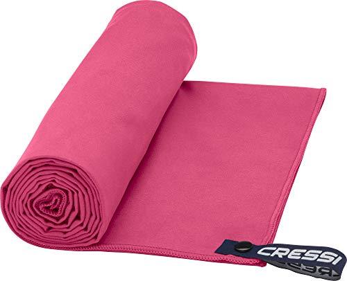 Cressi Fast Drying, Asciugamano/Telo Sportivo in Microfibra, Vari Colori e Misure Unisex Adulto, Rosso, 60 x 120 cm