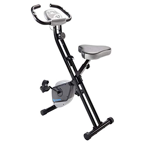 Stamina Folding Exercise Bike 182 | Three Expert-Guided, Online Workout Videos Included | Smooth, Adjustable Magnetic Resistance | LCD Monitor with Built-in Pulse Sensors | Compact Design to Save Space
