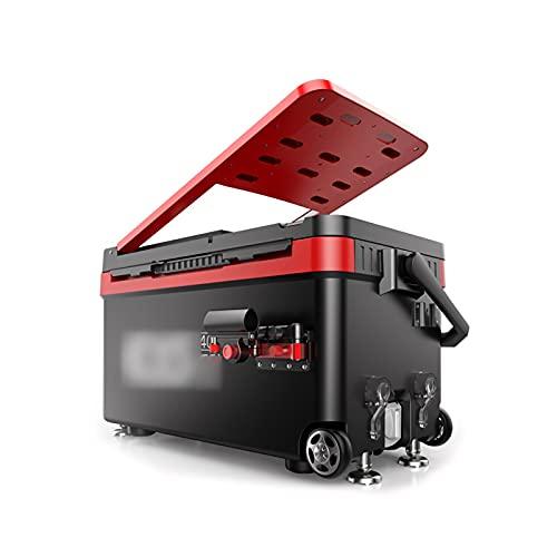 DAGCOT Caja de Pesca Grande Multifuncional Puede Sentarse Silla de Pesca con Respaldo de Ruedas y 4 Patas de elevación for el refrigerador de Almacenamiento de Peces en Vivo 40L (Color : Black)