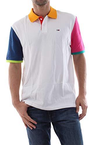 Tommy Jeans DM0DM06024 Kleurblok Polo Mannen Wit S