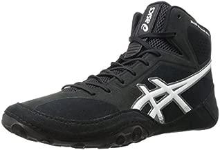 ASICS Men's Dan Gable Evo Wrestling Shoe, Black/White/Carbon, 12 Medium US