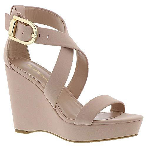 BCBGeneration Womens Jae Fabric Open Toe Casual Platform Sandals, Pink, Size 5.5