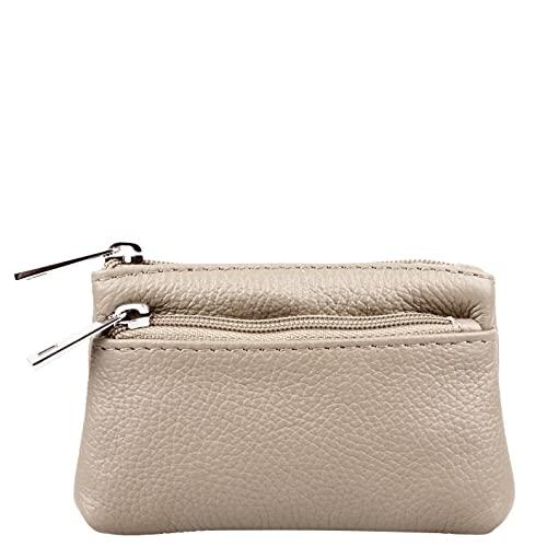 Marco VENEZIA 'Nara Geldbörse 14x9,5x2cm Genarbtes Nappaleder Echtleder Tasche Portemonnaie Brieftasche für Damen Creme