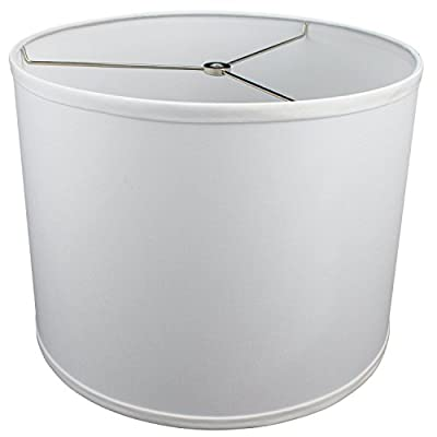 "FenchelShades.com 14"" Top Diameter x 14"" Bottom Diameter 11"" Height Cylinder Drum Lampshade USA Made (White)"