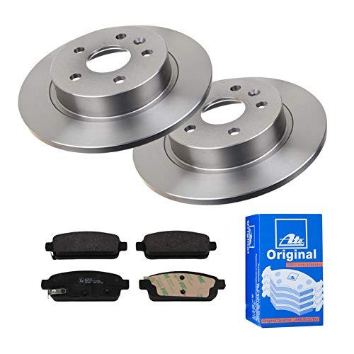 2 Bremsscheiben Ø268 Voll + Bremsbeläge ATE Hinten P-A-02-00474 Bremsanlage