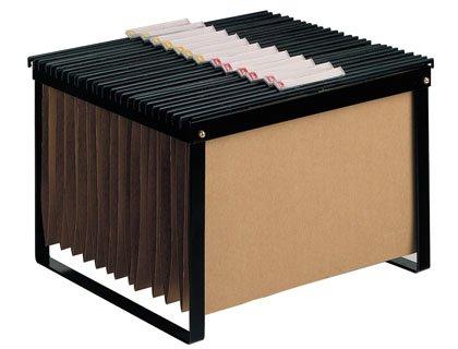 FELIXMANIA Soporte para Carpetas Colgante Negro Bastidor de sobremesa para Carpetas tamaño Folio y DIN A4