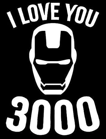HK Distributors I Love You Three Thousand 3000 Ironman Vinyl Sticker Decal for Cars Trucks Vans product image