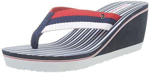 Gioseppo 48666, Sandalias con Plataforma para Mujer, Azul (Marino 000), 38 EU