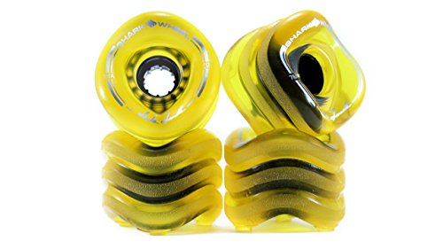Shark Wheel 70 mm 78a Longboard Wheels | Sidewinder | Transparent Green (4-Pack)