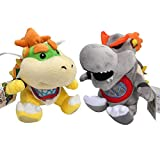 Altay Super Mario Baby Bowser Jr 2 in 1 Set Plush Toys Baby Size King Koopa Stuffed Plush Toy with Travel Bag (Includes 2 Baby bowsers)