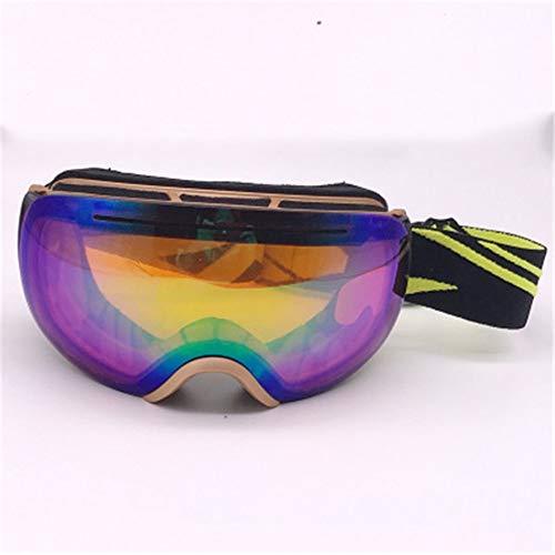 WGGLK Skibrille, Doppelobjektiv Anti-Glare/Antibeschlag Skibrille, 100% UV-Proof Bergsteigen, Skifahren, Outdoor-Brille, Männer und Frauen,5
