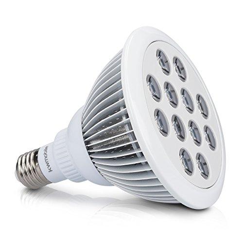 kwmobile LED Pflanzenlicht E27 Fassung - 24W Pflanzenlampe Grow Lampe - Licht für Pflanzen Gewächshaus Beleuchtung - Pflanzenbeleuchtung Blumenlampe