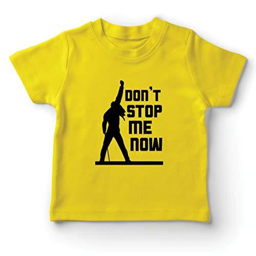 lepni.me Camiseta para Niños Dont Stop me Now! Camisas de Abanico, Regalos de músicos, Ropa de Rock (1-2 Years Amarillo Multicolor)