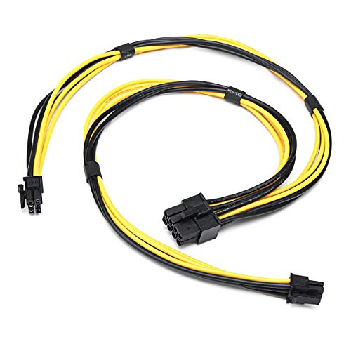 DyNamic Dual Mini 6 Pin To 8 Pin Male PCI-E Power Cable For Mac Pro Video Card