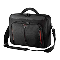Designed to protect up to 14 Inch laptops with additional internal sleeve Durable Polyester material with re-enforced rigid case Multi-functional front zipped workstation for mobile phones, cables, earphones, business cards, and pens Re-enforced adju...