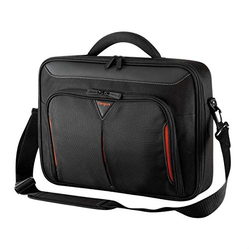 Targus Classic Plus Clamshell Business Professional Travel Messenger Laptop Bag with Protective Sleeve for 15-15.6 Inch Laptop, Black (CN415EU)