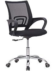 Mahmayi Sleekline 6901 Task Office Chair, Adjustment Height - Castor Wheel Chair - Black