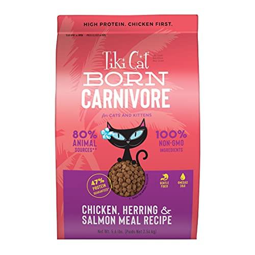 TIKI PETS Tiki Cat Born Carnivore Chicken & Herring Grain Free Dry Food Gluten Free, 5.6 lbs....