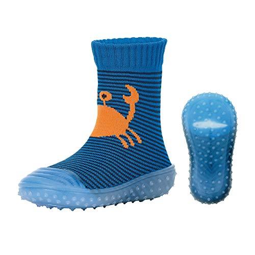 Sterntaler Adventure-Socks, Krabben-Motiv, Blau (Blau 379), 19/20