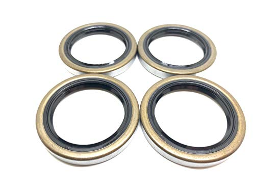 (Pack of 4) Trailer Hub Wheel Grease Seals WPS (TM) 168233TB 1.688'' x 2.332'' Double Lip #84 Spindle