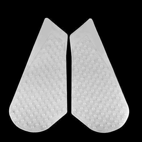 for Suzuki GSXR 600 750 2011 2012 2013 2014 2015 2016 2017 2018 2019 GSXR600 GSXR750 K11 Motorcycle Transparent 3M Gas Tank Pad Anti Slip Stickers Side Fuel Gas Grip Decal Protector (White)
