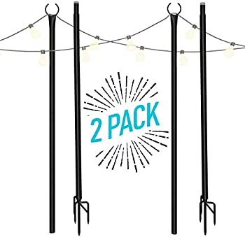 2-Pack Holiday Styling 8.5-Foot String Light Pole