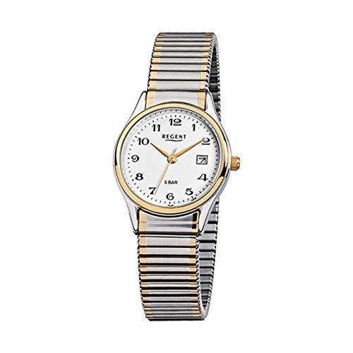 REGENT Uhr 75504199 klassische Damenuhr Zugband Flex