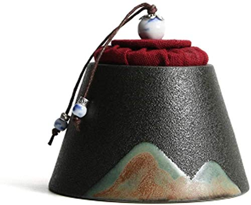 LSYFCL urne Erwachsene Feuerbestattungsurne für Asche Begräbnisurne Keramik Handgefertigte Urnen Urnen für Asche Adult Pet Ashes Human