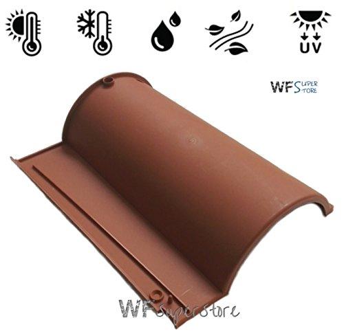 Tegola Portoghese in plastica color cotto - tegole tetto coppo terracotta (Escluso viti di fissaggio)