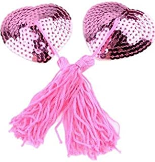 UHS Women's Sequined Pink Free Size Enhancer