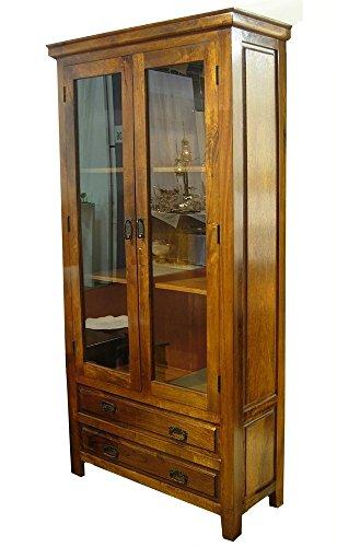Disraeli Vetrina 2 Ante e 2 Cassetti Marrone 100x40xh200cm