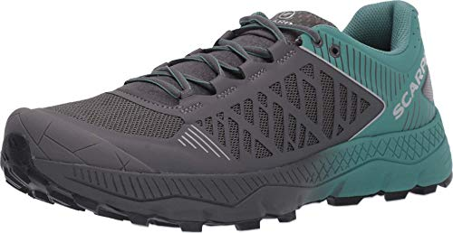 SCARPA Men's Spin Ultra Trail Shoes for Hiking and Trail Running - Iron/Deep Sea - 9-9.5