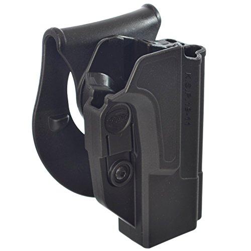 ORPAZ Defense Tiefziehholster verstellbar drehbar drehung Paddle/Gürtel Pistole Holster Active Retention für Alle 1911 mit oder ohne Picatinny Rail - Colt, Sig, Kimber, S&W, Taurus, Ruger and More