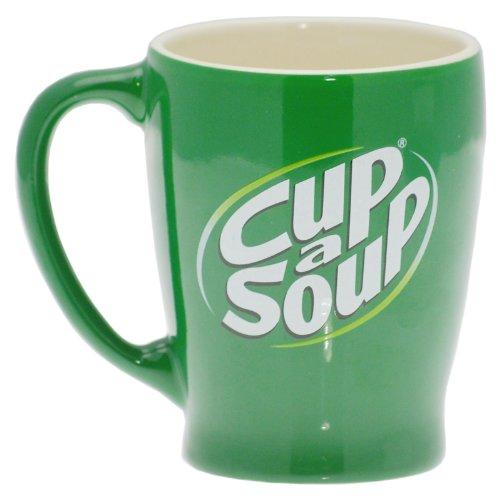Cup a Soup Suppentasse Suppe Tasse Kaffeetasse Kaffeebecher Keramik Grün 200 ml