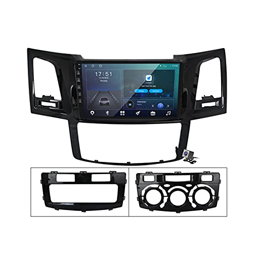 Android 10 Car Radio de Navegación GPS para Toyota Fortuner Hilux 2007-2015 con 9 Pulgada Pantalla Táctil Support FM Am RDS DSP/MP5 Player/BT Steering Wheel Control/Carplay,M600