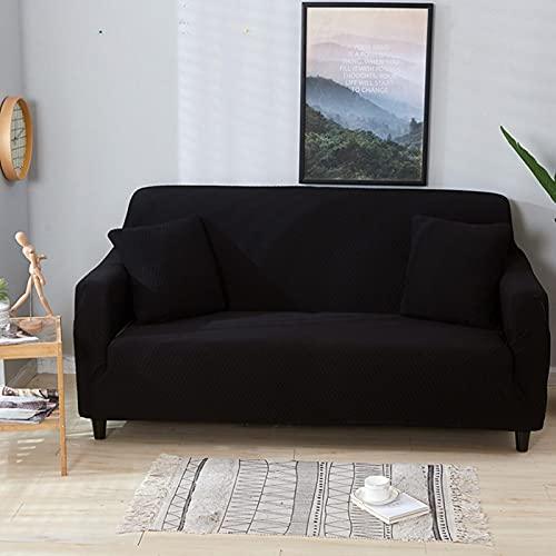 Emoshayoga Funda de sofá elástica Suave y Duradera 1 Piezas Protector de cojín de Funda de sofá de(Four Persons 235-300cm)