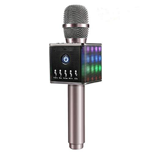 XiY Mic del Altavoz Profesional De Luces LED con Micrófono De Karaoke...