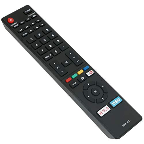 AIDITIYMI NH414UD Remote Control Replace for Sanyo TV FW50C36F FW50C85T with Netflix Vudu Short Keys