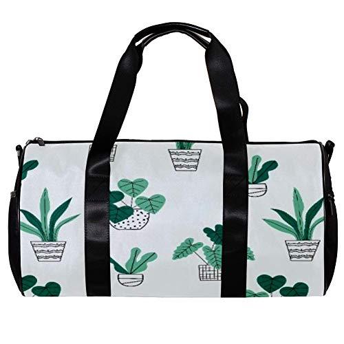 bolsa deportiva para hombres y mujeres, gimnasio, fitness y viajes, paquete de barril bolsa de lona de cultivo en casa plantas en maceta