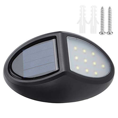 Solar Lights, ABS with Over‑Charge Protection Weatherproof Waterproof 10Pcs Chips Solar Lamp, Energy-Saving for Decks Sidewalks