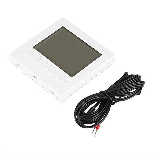 Sharainn Termostato LCD, termostato de calefacción inalámbrico WiFi programable, Controlador de Temperatura Ambiente, luz de Fondo Blanca para válvula térmica, válvula solenoide